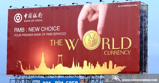 Yuan de nieuwe wereldmunt per...